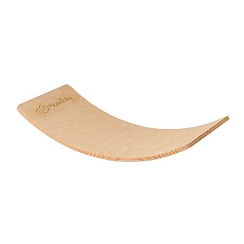MEOWBABY Balance Board Balancierbrett aus Holz 80x30 cm...