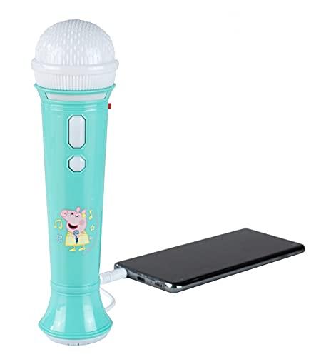 Peppa Pig Karaoke-Mikrofon für Kinder, mit blinkenden Lichtern und...