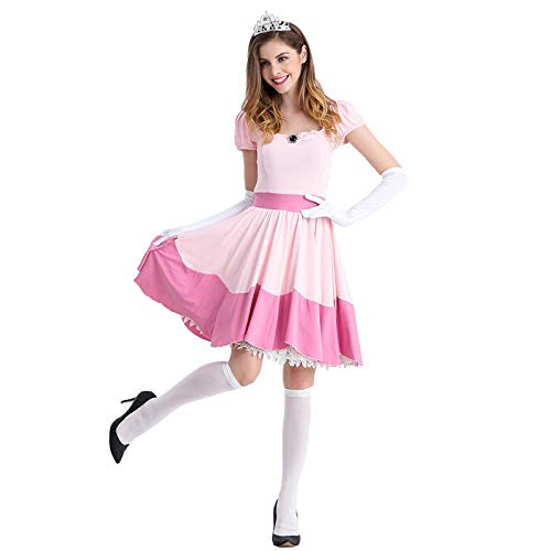thematys Super Mario Prinzessin Peach Kleid - Kostüm-Set für Damen -...