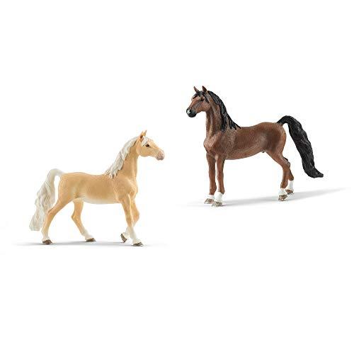 Schleich American Saddlebred Stute 13912 + Wallach 13913 - Horse Club...