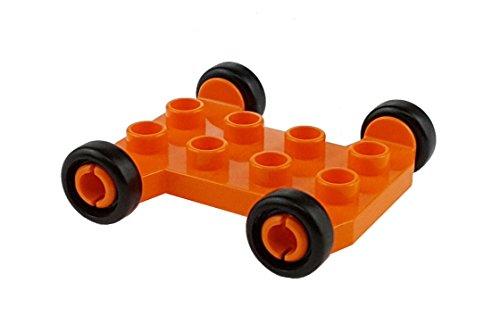1 x Lego Duplo Fahrzeug Fahrgestell orange 2x4 für Mischer...