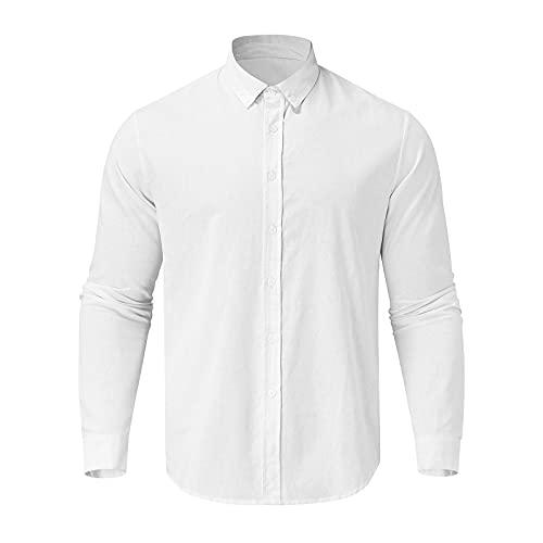 XIAOHUAHUA Herren Freizeithemden,Langarmhemden für Männer, Herren...