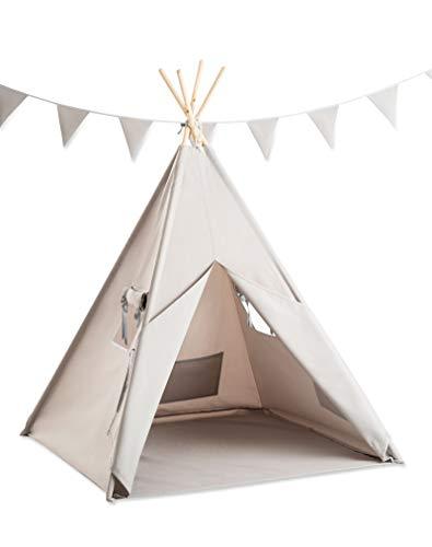 Cozydots - Tipi Zelt für Kinder, Kinderzelt - Wasserdicht Set...
