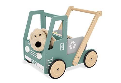 Pinolino Lauflernwagen Kipplaster Fred, aus Holz, mit Bremssystem,...