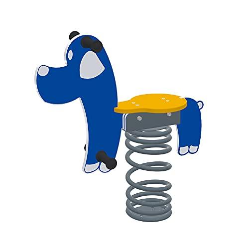 Sapekor Federwippe Hund, Blau/Gelb, 15250
