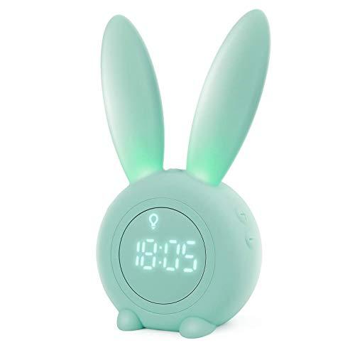 Homealexa Kinder Lichtwecker Cute Rabbit Wake Up Kinderwecker Creative...