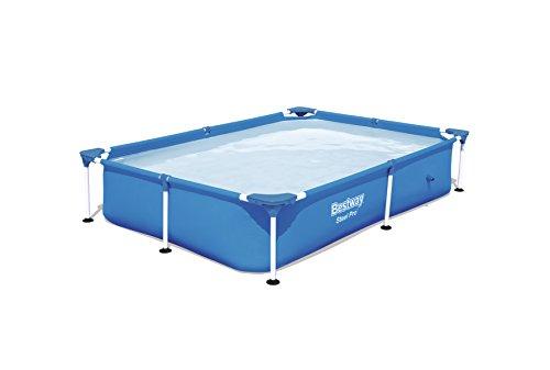 Bestway Steel Pro Framerechteckig Pool, ohne Pumpe, blau, 221 x 150 x 43 cm