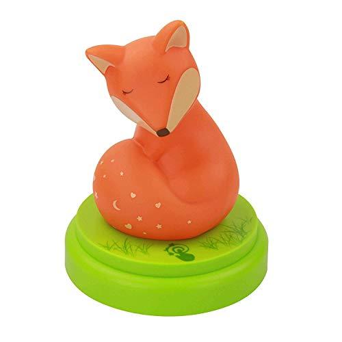 ANSMANN Nachtlicht Baby & Kind LED Fuchs - Süßes Schlummerlicht mit Touch Sensor & Timer - ideal als...