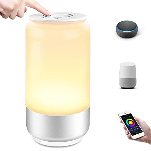 Lepro Nachttischlampe Touch Dimmbar Smart, LED Tischlampe WiFi mit...
