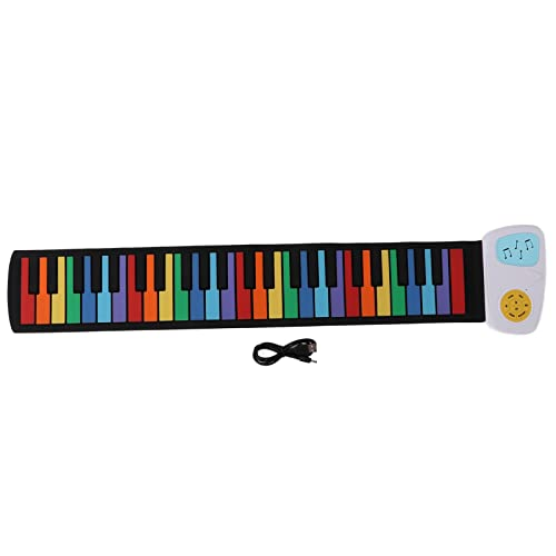 49 Tasten Kinder Roll-Up-Klavier, Bunt Faltbar...