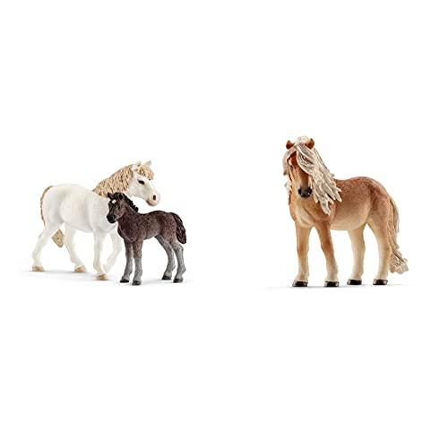 Schleich 42423 Pony Stute und Fohlen & 13790 - Island Pony Stute, Tier...