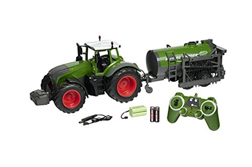 Carson 500907344 RC Traktor mit Tankwagen 1:16-Ferngesteuertes...