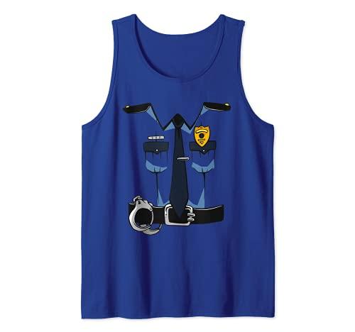 Police Uniform DIY Easy Costume Halloween Adults Kids Police Tank Top