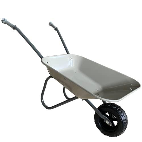 ASC Metall-Schubkarre für Kinder, grau/grau, Spielzeug, Bauernhof,...