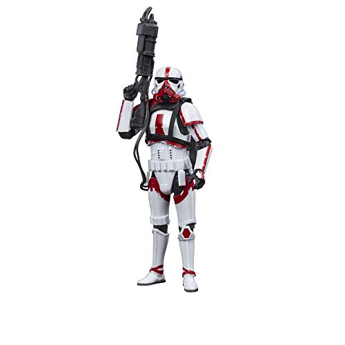 Star Wars The Black Series Incinerator Trooper 15 cm große Action-Figur zu The Mandalorian, Spielzeug für...