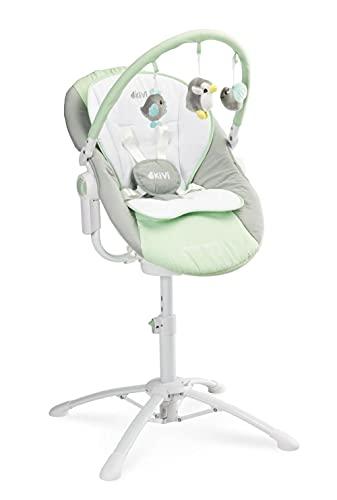 Caretero Kivi 3in1 elektrische Babyschaukel, Hochstuhl, Kinderstuhl,...