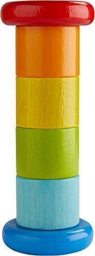 HABA 304817 - Regenmacher Farbenfroh, Baby-Spielzeug mit Rassel-Effekt...