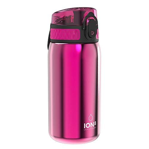 ion8 Unisex-Kinder Auslaufsichere 400ml Trinkflasche, Rosa