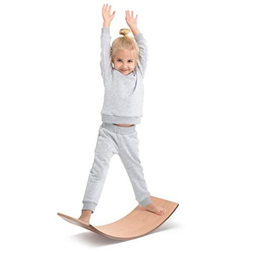 Milliard Waldorf Balance Board/Balancierbrett aus Holz, Montessori...
