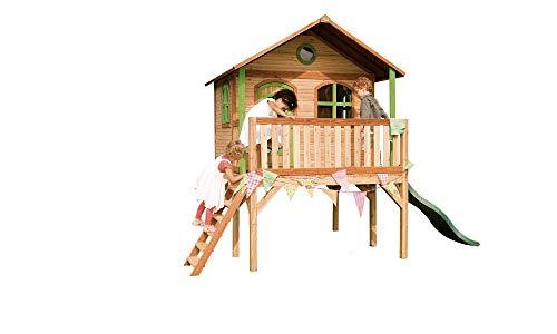 Beauty.Scouts Holzspielhaus Wiar mit Veranda + Leiter + Rutsche...