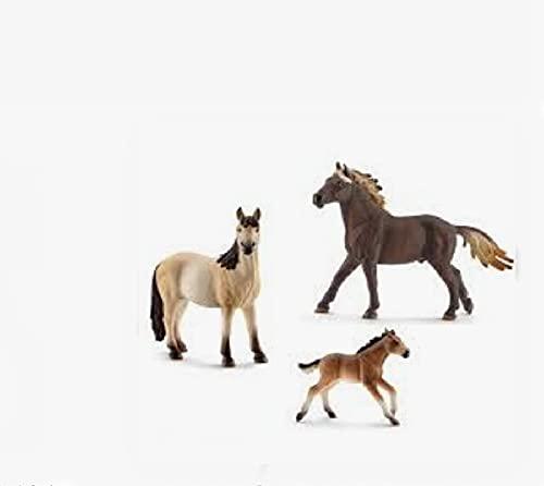 Farmlife - kompatibel mit Schleich Mustang Familie, Stute 13806,...