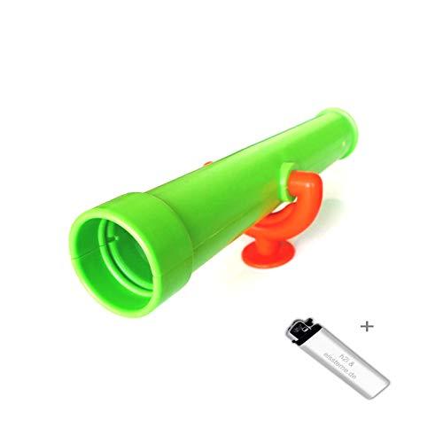1 Stück h2i Kinder Teleskop Fernrohr Fernglas aus Kunsstoff in Grün...