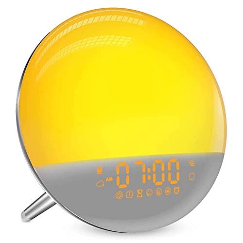 Sunrise Wecker, Wake Up Licht Sonnenuntergang Lampe mit Smart...