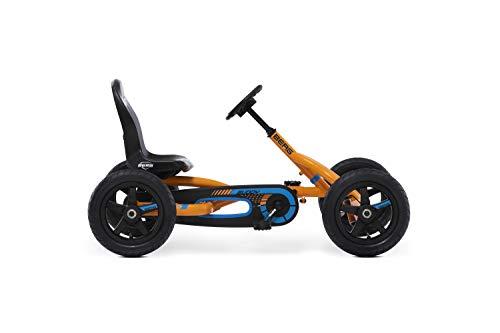 Berg Pedal Gokart Buddy B-Orange   Kinderfahrzeug, Tretauto mit Optimale Sicherheid, Luftreifen und Freilauf,...