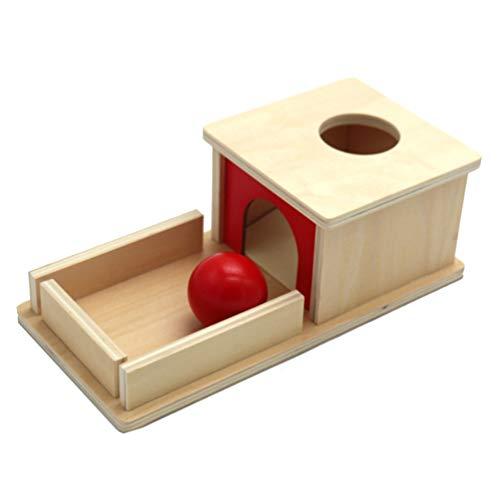Toddmomy 1Pc Montessori Objekt Permanenz Box mit Tablett Und Ball...
