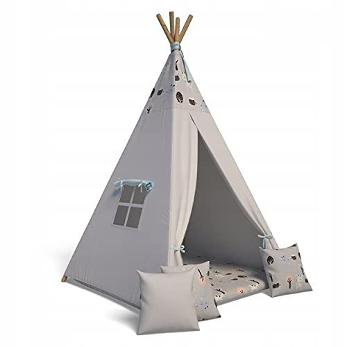 Best For Kids Spielzelt Tipi Zelt Indianer Wigwam für Kinder mit...