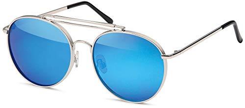 styleBREAKER Piloten Sonnenbrille mit dickem Metallrahmen, Doppel...