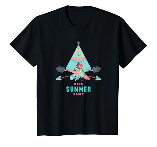 Kinder Sommer Zelten Tipi in der Natur Camping Urlaub Mädchen T-Shirt