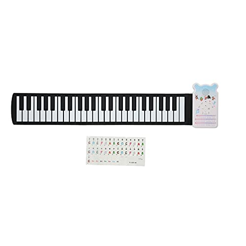 Kinder Roll-Up-Klavier Spielzeug, Tragbar Wiederaufladbar 49 Tasten...