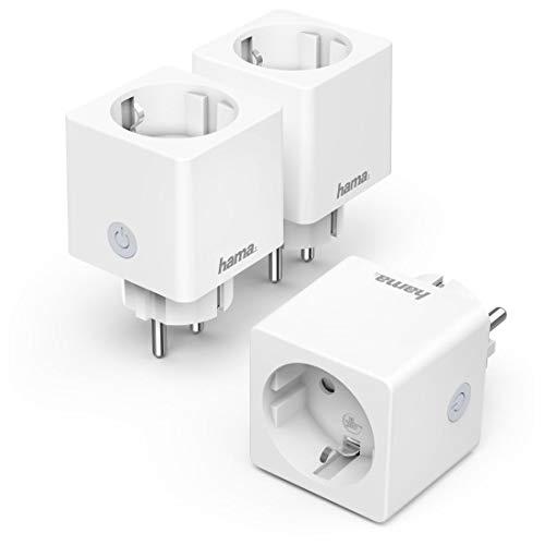 Hama WLAN Steckdose Advanced 3er Pack, Mini Plug, (smarte Steckdose...