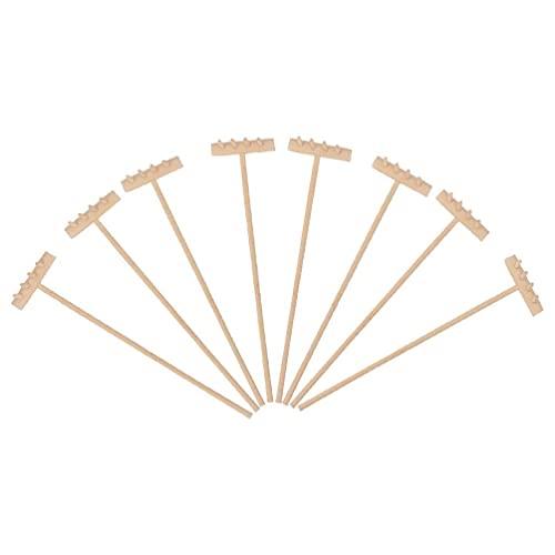 LIXBD 8 x Mini-Zen-Sandrechen aus Bambus, für Meditation, Zen,...
