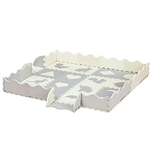 HOMCOM Kinder Puzzlematte Kinderspielteppich Spielteppich 36 Stück...