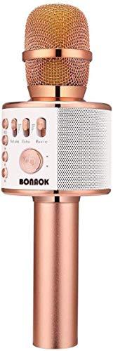 Bluetooth Karaoke Mikrofon Kinder, BONAOK Drahtlose Dynamisches...