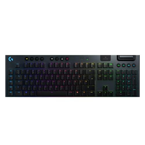Logitech G915 LIGHTSPEED kabellose mechanische Gaming-Tastatur,...