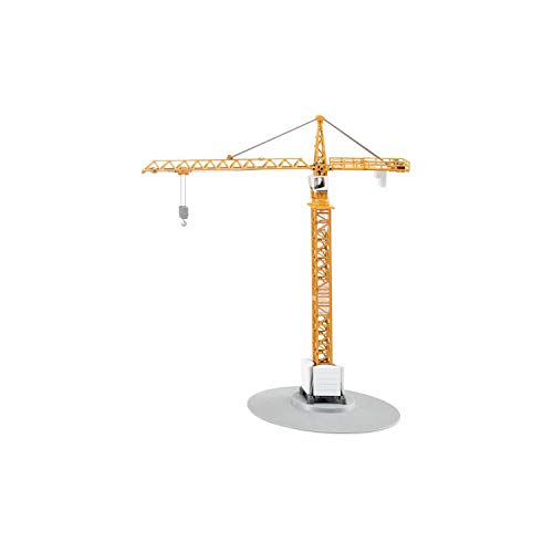 SIKU 1899, Turmkran, 1:87, Metall/Kunststoff, Gelb, Höhe von 40 cm,... *