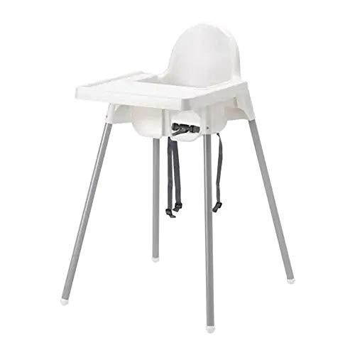 IKEA ANTILOP Kinderstuhl mit Sitzgurt; in weiß; mit Tablett
