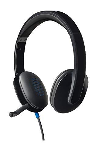 Logitech H540 Kopfhörer mit Mikrofon, Verstellbares Mikrofon mit...