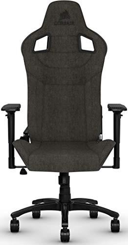 Corsair T3 Rush, Polyester Stoff Gaming Büro Stuhl (Atmungsaktivem...