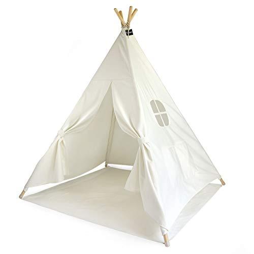 Hej Lønne Kinder Tipi, weißes Zelt, circa 120 x 120 x 150 cm groß,...