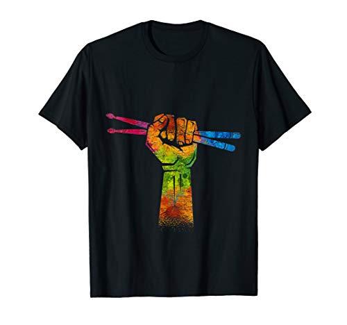Faust Drumsticks Schlagzeuger Geschenk Drummer Schlagzeug T-Shirt