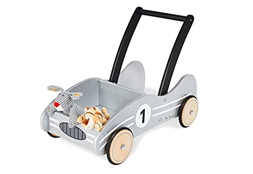 Pinolino Lauflernwagen Kimi, aus Holz, mit Bremssystem, Lauflernhilfe...