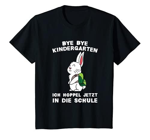 Kinder Bye Bye Kindergarten Schulkind Hase Kaninchen Einschulung...