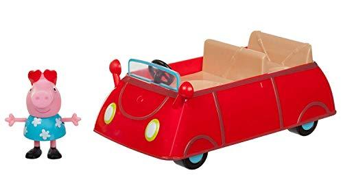 Jazwares 95706 - Peppa Wutz Peppa's kleines rotes Auto, Cabrio mit...