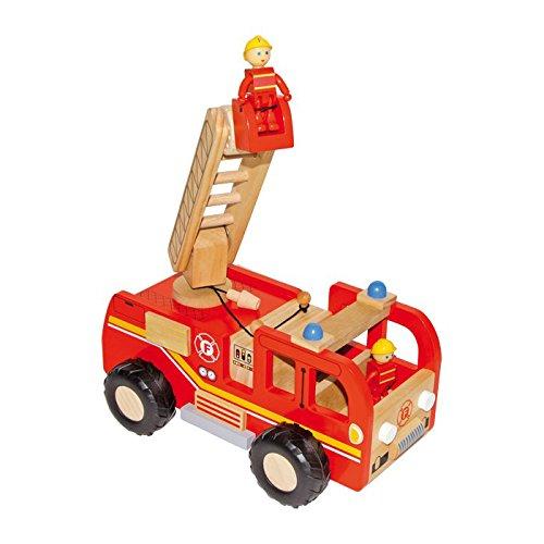 small foot 2021765 8509 Feuerwehrauto aus Holz, mit Drehleiter und...