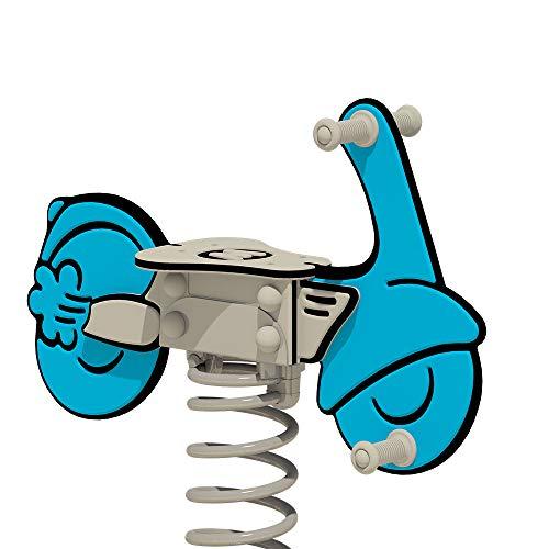 WICKEY Federwippe PRO Scooter Weeley blau für öffentliche...