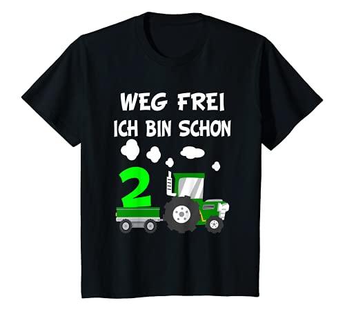 Kinder 2. Geburtstag Weg Frei Ich bin schon 2 Jahre Traktor Trecker...